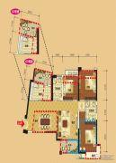 领地・国际公馆3室2厅2卫84平方米户型图