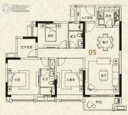 广州绿地城2室2厅2卫125平方米户型图