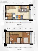 融达领寓2室2厅1卫37平方米户型图