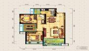 宝安・山水龙城2室2厅1卫87平方米户型图