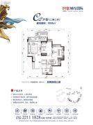 万科时富・金色家园2室2厅2卫91平方米户型图