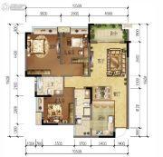 绿地城3室2厅2卫110平方米户型图