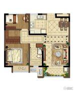 中海国际社区2室2厅1卫85平方米户型图
