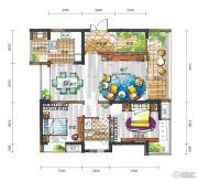 新鸿基悦城2室2厅1卫99平方米户型图