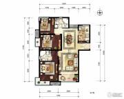 中建国际港3室2厅2卫122平方米户型图