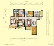 明威橡树湾4室2厅2卫126平方米户型图