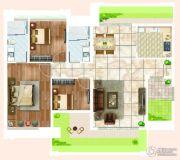 宏宇・景裕豪园3室2厅2卫126平方米户型图