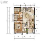 泰安江南星语3室2厅2卫93平方米户型图