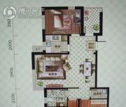 中体奥林匹克花园・花园一号3室2厅1卫108平方米户型图