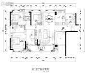 中央美地4室2厅2卫0平方米户型图