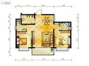 冠龙华府2室2厅2卫0平方米户型图