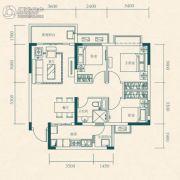 恒大世纪城3室2厅1卫73平方米户型图