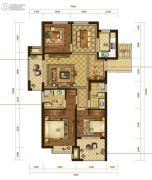 半岛名苑3室2厅2卫129平方米户型图