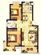 格林春天2室2厅1卫90平方米户型图