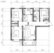 橄榄绿洲3室1厅1卫112平方米户型图