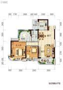 碧桂园十里银滩2室1厅1卫89平方米户型图