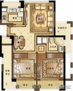 融创常州御园2室2厅1卫87平方米户型图