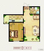 龙鸿怡家1室1厅1卫0平方米户型图