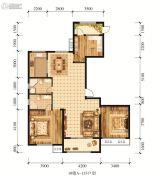 江山花园3室2厅2卫133平方米户型图