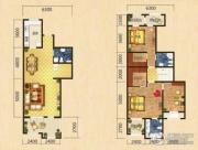 世嘉光织谷2室2厅3卫0平方米户型图