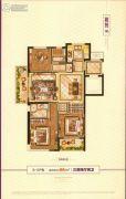 德信・大悦湾3室2厅2卫96平方米户型图