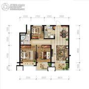 金地艺境3室2厅1卫90平方米户型图