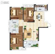 长江国际广场3室2厅1卫127平方米户型图