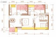 香山长岛3室2厅2卫90平方米户型图