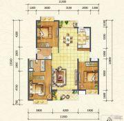 万达西双版纳国际度假区3室2厅2卫125平方米户型图