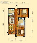 御园2室2厅1卫83平方米户型图