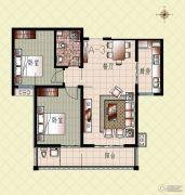 上起澜湾2室2厅2卫104平方米户型图