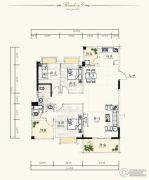 泰达・润景园3室2厅2卫137--138平方米户型图