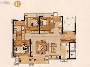 实地常春藤4室2厅2卫125平方米户型图