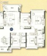 敏捷金月湾4室2厅2卫168平方米户型图