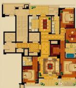 新华园4室2厅3卫199平方米户型图