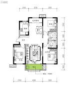 民生城・逸兰汐3室2厅2卫111平方米户型图
