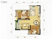 北大资源燕南2室2厅1卫0平方米户型图
