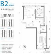 百年港湾2室2厅1卫0平方米户型图