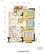 碧桂园城市花园2室2厅1卫82平方米户型图