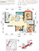 龙光阳光海岸3室2厅2卫99--101平方米户型图