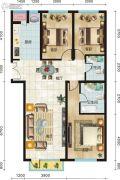 永新华・世界湾3室2厅2卫136平方米户型图