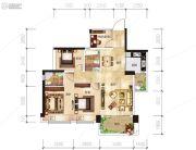 越亚天赐良园4室2厅2卫84平方米户型图
