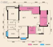 在水一方3室2厅2卫142平方米户型图
