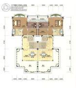 招商・依云雍景湾4室2厅1卫105平方米户型图