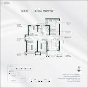 雅居乐锦城4室2厅2卫123平方米户型图