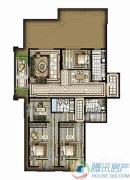 西单上国阙3室2厅2卫0平方米户型图