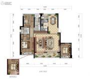 绿城华景川・之江明月4室2厅2卫150平方米户型图