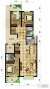帝王国际3室2厅2卫142平方米户型图