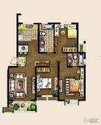 金东城世家3室2厅2卫119平方米户型图