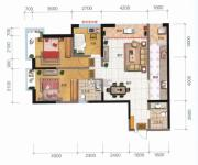 融城优郡3室2厅2卫104平方米户型图